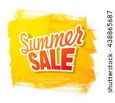 summer sale. vector template... | Shutterstock .eps vector #438865687