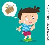 illustration of cartoon boy... | Shutterstock .eps vector #438868717