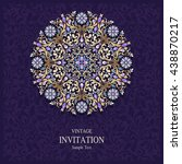 wedding invitation or card with ... | Shutterstock .eps vector #438870217