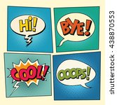 set of retro comic bubbles pop...   Shutterstock .eps vector #438870553