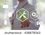 service business  technology ... | Shutterstock . vector #438878563