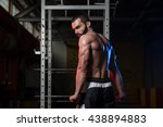 young man standing strong in... | Shutterstock . vector #438894883