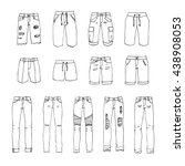 hand drawn vector clothing set... | Shutterstock .eps vector #438908053