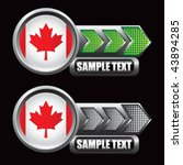 canadian flag green and gray... | Shutterstock .eps vector #43894285
