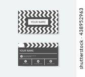 business card design template ...   Shutterstock .eps vector #438952963