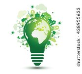 green city and eco earth with... | Shutterstock .eps vector #438955633