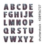 3d rendered grunge alphabets on ... | Shutterstock . vector #438956737