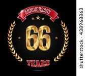 66 years golden anniversary... | Shutterstock .eps vector #438968863