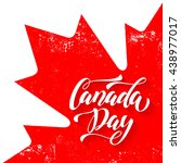 Canadian Flag With Red Maple...