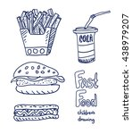 fast food sketch. really... | Shutterstock .eps vector #438979207