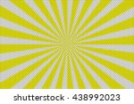 yellow and white rays with... | Shutterstock . vector #438992023