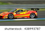 buriram  jun12  car racing on... | Shutterstock . vector #438993787