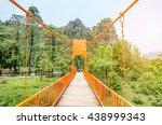 bridge in vangvieng   laos | Shutterstock . vector #438999343
