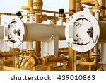 pig launcher in oil and gas... | Shutterstock . vector #439010863