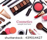 cosmetics set isolated on white  | Shutterstock . vector #439014427