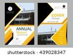 abstract yellow balck vector... | Shutterstock .eps vector #439028347