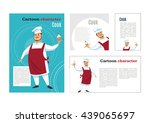 professional chef cook... | Shutterstock .eps vector #439065697