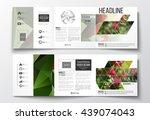 vector set of tri fold... | Shutterstock .eps vector #439074043