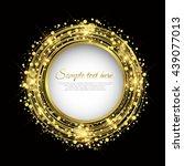 golden circle background vector ... | Shutterstock .eps vector #439077013