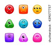 set of various colorful... | Shutterstock .eps vector #439077757
