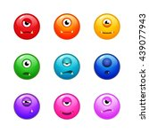 set of various colorful... | Shutterstock .eps vector #439077943