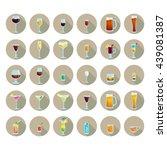 big icon set popular alcoholic...   Shutterstock .eps vector #439081387