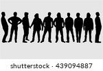 silhouette of a man. | Shutterstock .eps vector #439094887