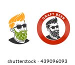 man with beard in the form of... | Shutterstock .eps vector #439096093
