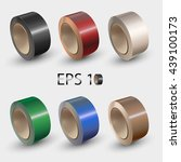 adhesive tape on roll colorful... | Shutterstock .eps vector #439100173