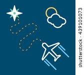 airplane flying   Shutterstock .eps vector #439101073