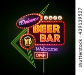 beer bar neon sign | Shutterstock .eps vector #439139527