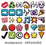vector set of different emojis... | Shutterstock .eps vector #439141003