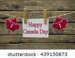 Small photo of Canada day greeting card or background