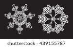 ethnic fractal mandala vector... | Shutterstock .eps vector #439155787