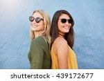 Shot Of Two Young Women Smilin...