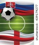 vector of green soccer filed...   Shutterstock .eps vector #439179277