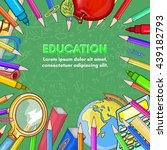 education background back to... | Shutterstock .eps vector #439182793