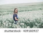 beautiful young sweet girl in a ... | Shutterstock . vector #439183927