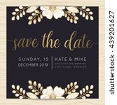 save the date  wedding... | Shutterstock .eps vector #439201627
