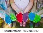 hands   palms of young people... | Shutterstock . vector #439203847