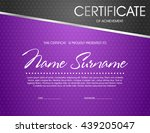 purple certificate template | Shutterstock .eps vector #439205047