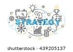 modern thin contour line design ... | Shutterstock .eps vector #439205137
