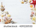 Seashells And Starfish On A...
