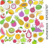 seamless pattern with fruits | Shutterstock .eps vector #439233787