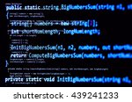 programming code   blue color ... | Shutterstock . vector #439241233