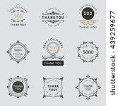 set of vintage thank you badges ... | Shutterstock .eps vector #439259677