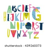 artistic sketchy abc for your... | Shutterstock .eps vector #439260373