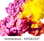 abstract paint splash isolated... | Shutterstock . vector #439261537