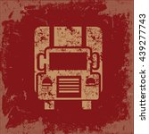 truck design on red background...