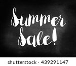 summer sale on blackboard | Shutterstock . vector #439291147